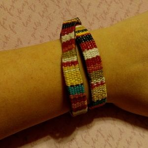 Woven fabric bracelet
